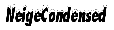 Czcionka NeigeCondensed