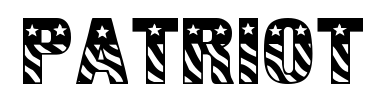 Czcionka Patriot