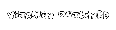 Czcionka Vitamin outlined